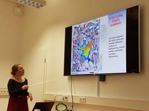 Paulina Köhler, en su presentación del Complejo Volcánico Laguna del Maule