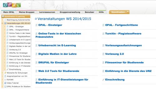 Workshop- und Schulungsangebot WS 2014/15 ist online