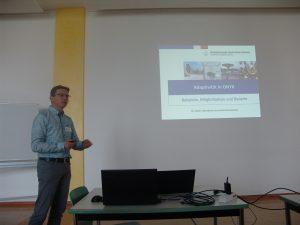 Vielfalt: Prof. Michael Seidel von der Westsächsischen Hochschule Zwickau referierte über die Adaptivität im Testeditor ONYX