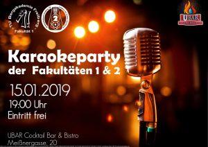 Karaokeparty der Fakultäten 1 und 2; Datum 15.01.2019; Start 10 Uhr in der UBAR Freiberg