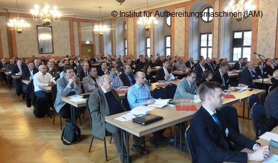 Blick in den Städtischen Festsaal während des Freiberger Symposiums für Aufbereitungstechnik 2018