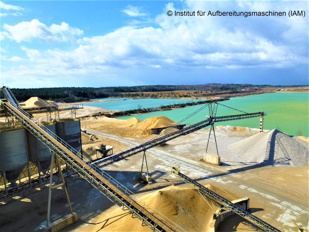 Processing plant in the Lausitz region IAM TU Freiberg