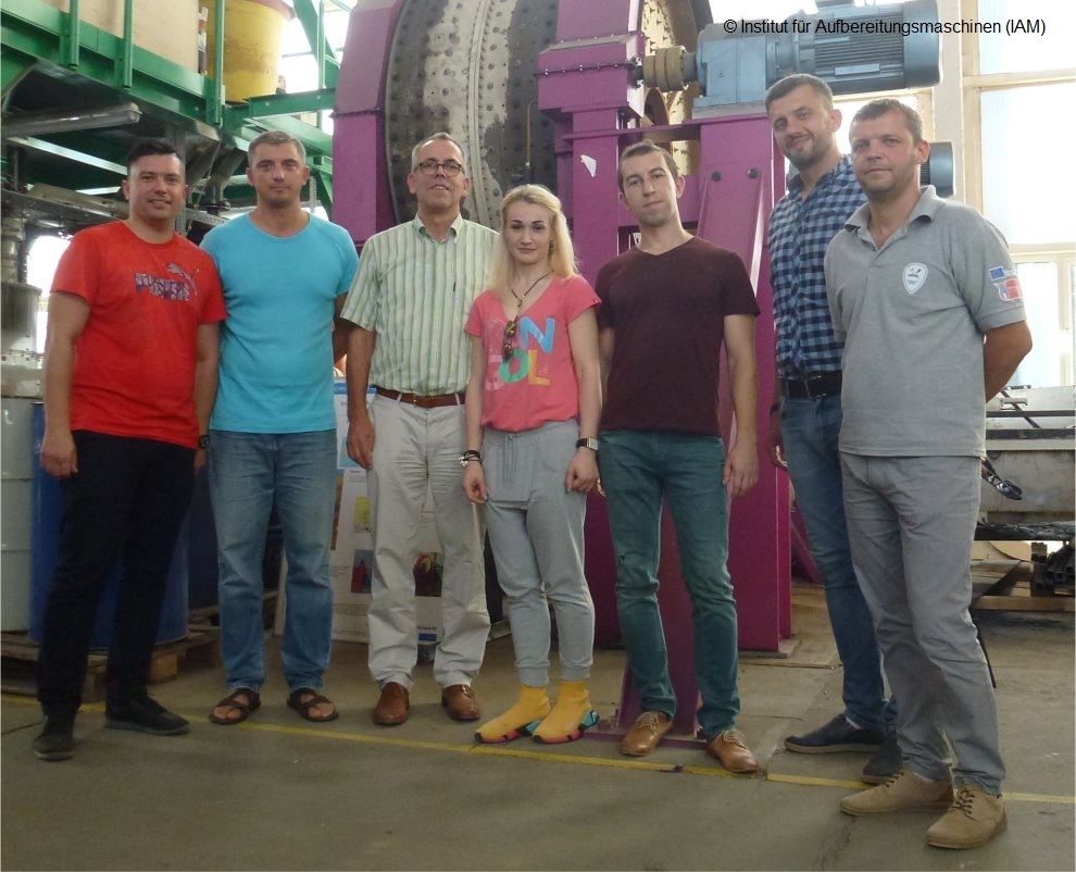 Scientists of the Zhytomyr State Technological University in the technical center of the Institute of Mineral Processing Machines (IAM) of the TU Freiberg