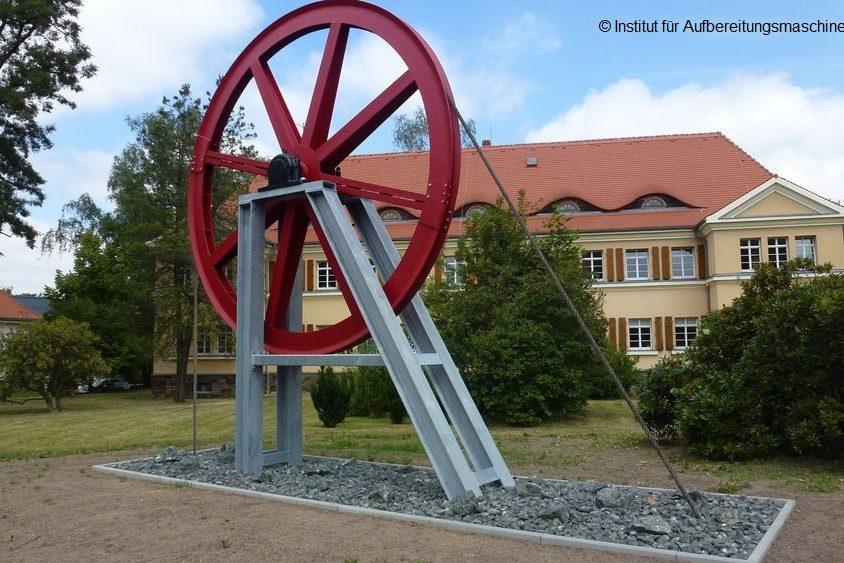 TU Freiberg Einweihung der Seilscheibe Wismut am 06.07.2018