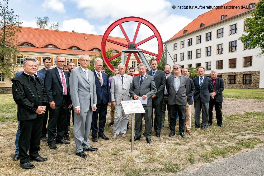 TU Freiberg inauguration of the cable sheave Wismut on 06 July 2018