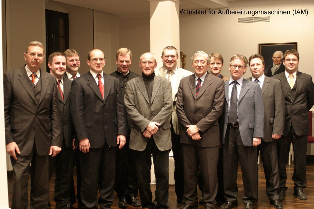 Founding members of the association of friends and supporters of the Institute of Mineral Processing Machines (IAM) of the TU Freiberg