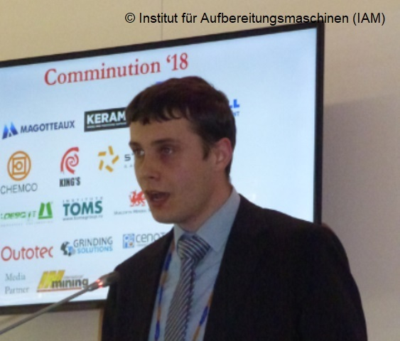 Michael Klichowicz of the Institute of Mineral Processing Machines (IAM) of the TU Freiberg at the International Comminution Symposium 2018 in Cape Town