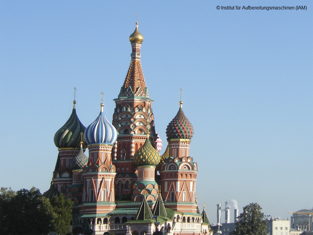Kremlin in Moscow International Mineral Processing Congress (IMPC) Institute of Mineral Processing Machines (IAM) TU Mining Academy Freiberg