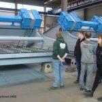 Siebmaschinen mit 3,5 m Belagbreite in der Versandhalle von Haver Niagara