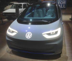 Das Bild zeigt die Konzeptstudie für ein neues E-Mobil von VW, nicht mehr auf der Plattform des Golf, sondern völlig neu entwickelt