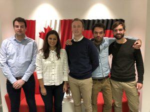 Studenten der TU Bergakademie Freiberg bei der AHK in Toronto