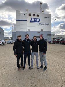 4 Studenten der TU Bergakademie Freiberg bei K+S