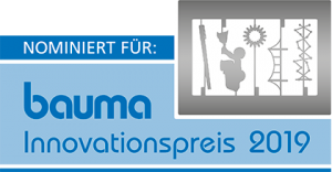 Logo Bauma-Innovationspreis 2019 Nominierung