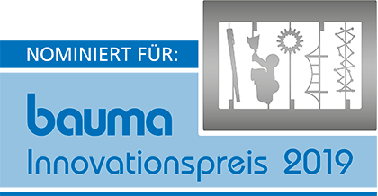 Logo Nominierung Bauma Innovationspreis 2019