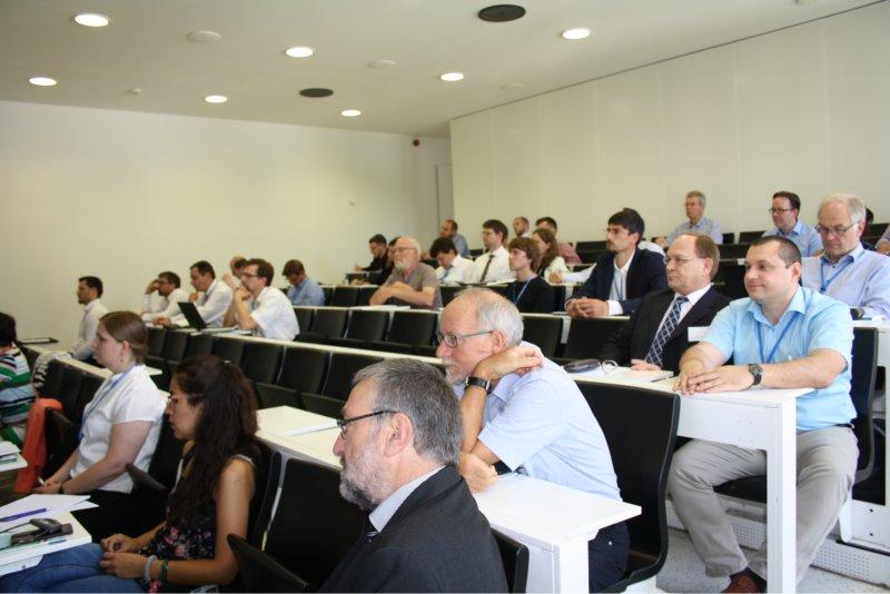 Blick auf die Zuhörer während des Fachkolloquiums im Veranstaltungs-Hörsaal