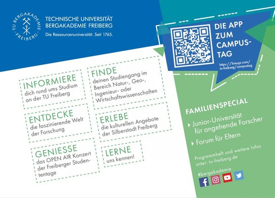 Flyer about the CampusTag / open days on 09 June 2018