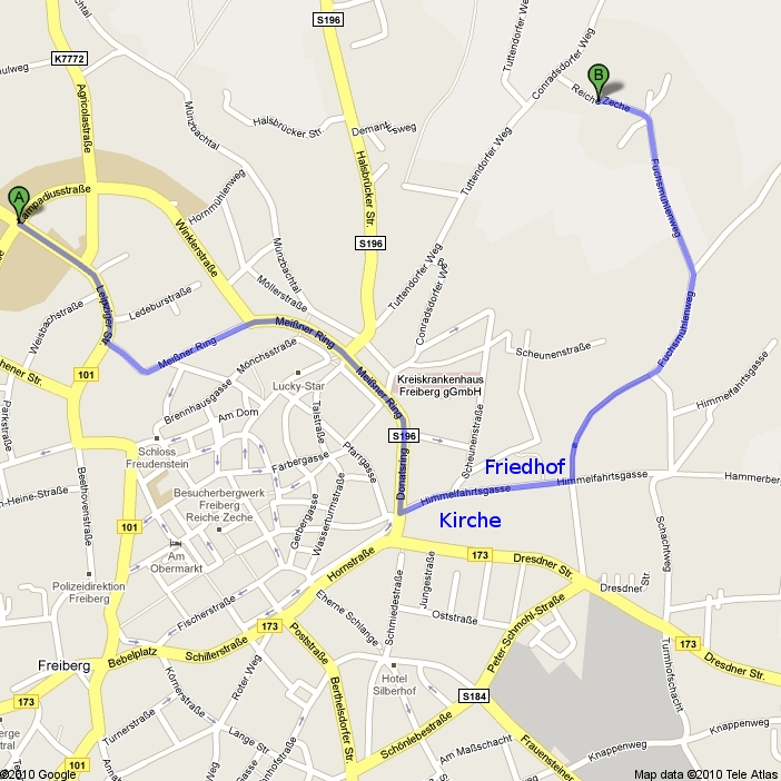 Town and campus map