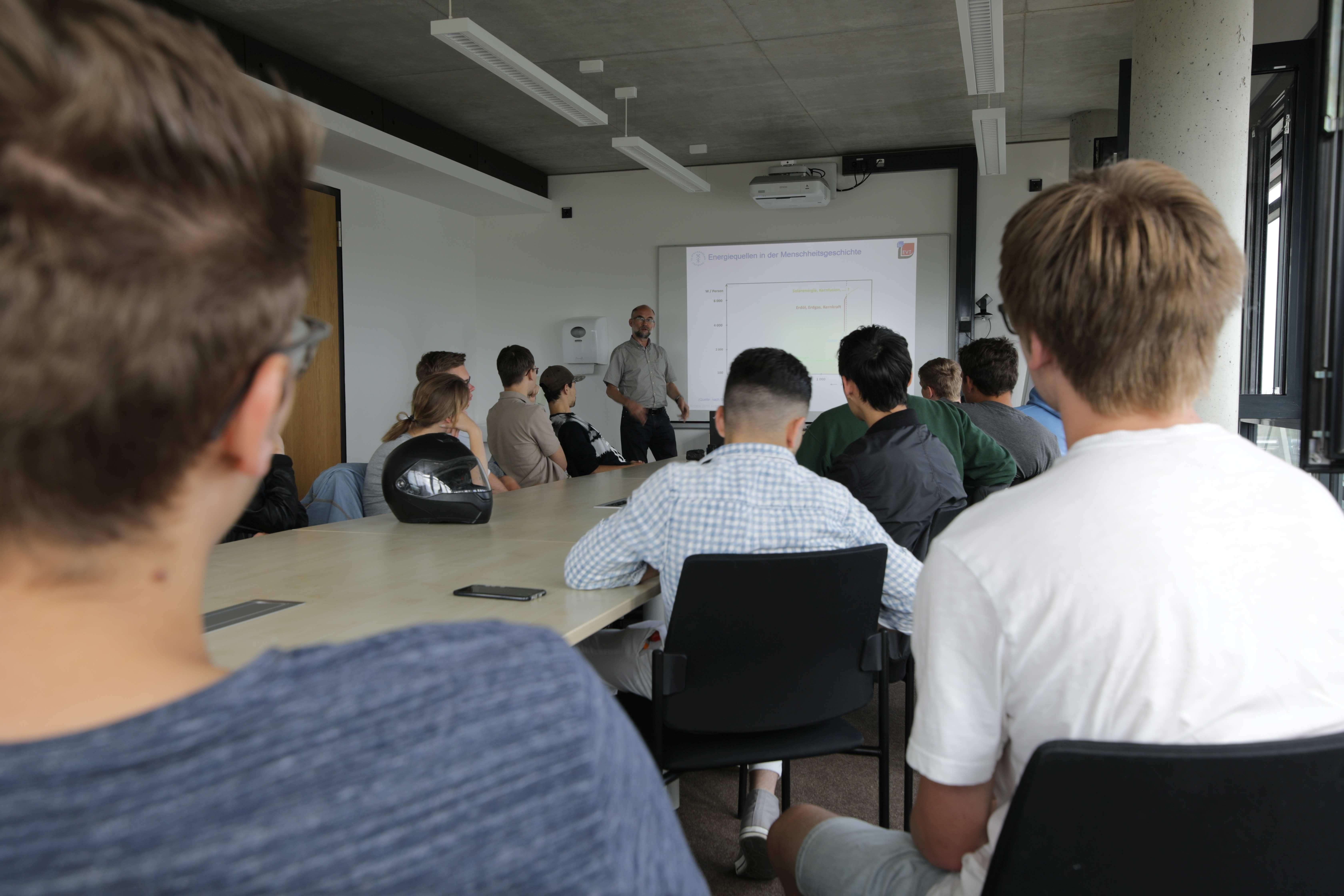 Gastvortrag vor Schülern des Berufsschulzentrums Freiberg