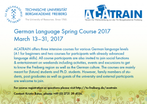 Spring Course German language, March 2017