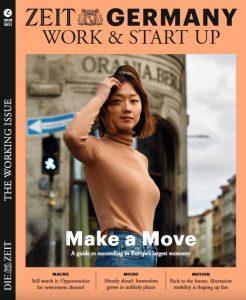 """Cover mit einer jungen Asiatin von einem klassizistischen Gebäude, Titel: """"Make a Move"""""""