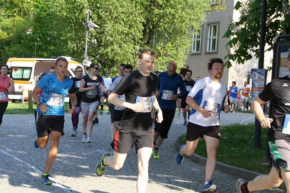 Start der 2,5 km mit Alexander