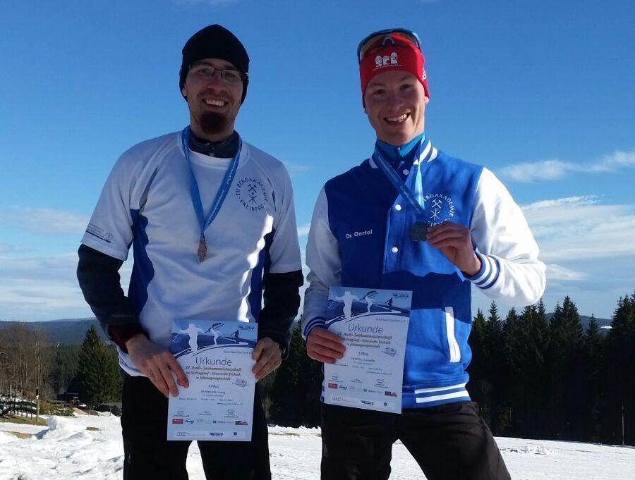 3-mal Edelmetall bei den Sachsenmeisterschaften im Skilanglauf