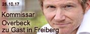 Kommissar Overbeck kommt nach Freiberg - Roland Jankowsky mit schräg kriminellen Kurzgeschichten