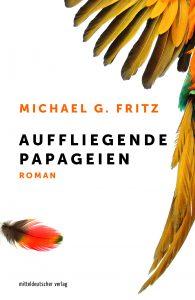 Bild: Buchcover Auffliegende Papageien