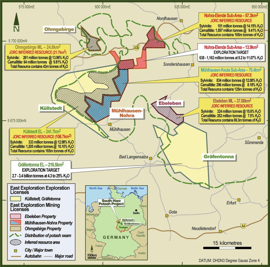 Thüringen/Südharz: Kali-Bergbau mit australischem Investor – interessante Lizenzen / Probebohrung(en) im Sommer geplant