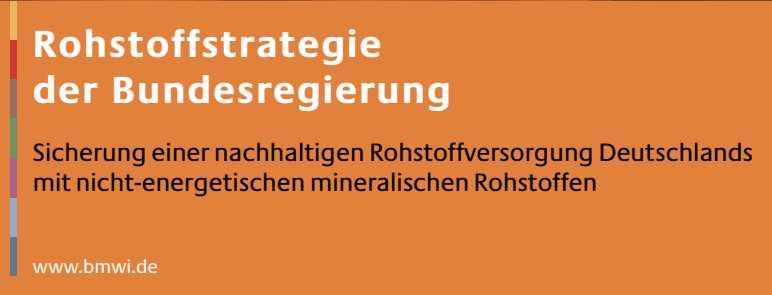 Da war die erste offizielle Rohstoffstrategie für Deutschland … gefunden :) Oh Mist, das PDF gibt's nicht mehr :(